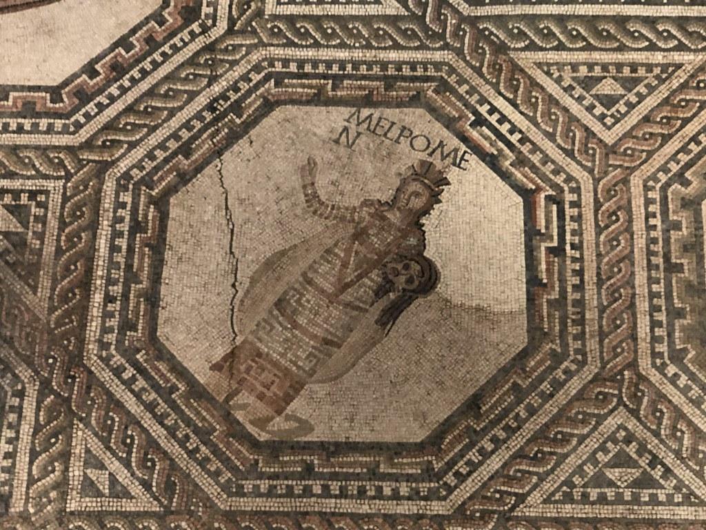 Mosaic Detail of Melpomene