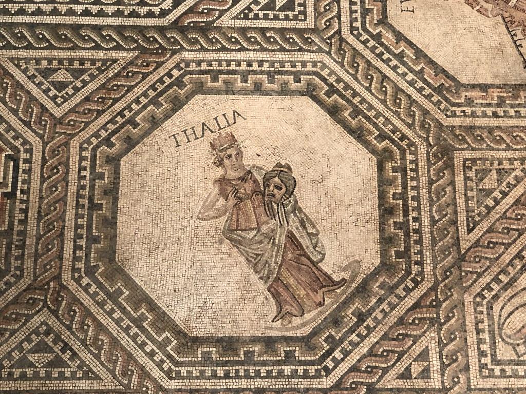 Mosaic Detail of Thalia