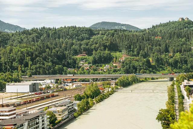 Kufstein von der Festung Kufstein aus gesehen 02
