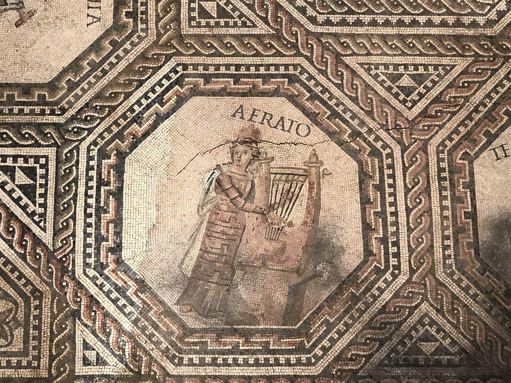 Mosaic Detail of Erato