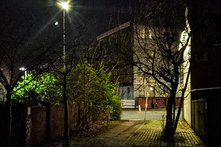 Preston alleyway at night | by Tony Worrall