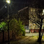 Preston alleyway at night