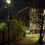 Preston alleyway at night