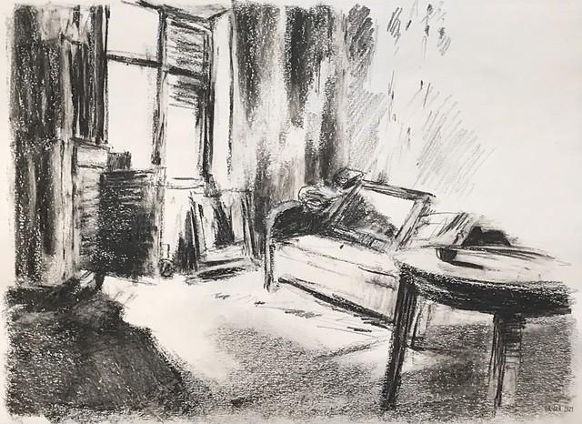 next images to paint, graphite, 30 x 42 cm