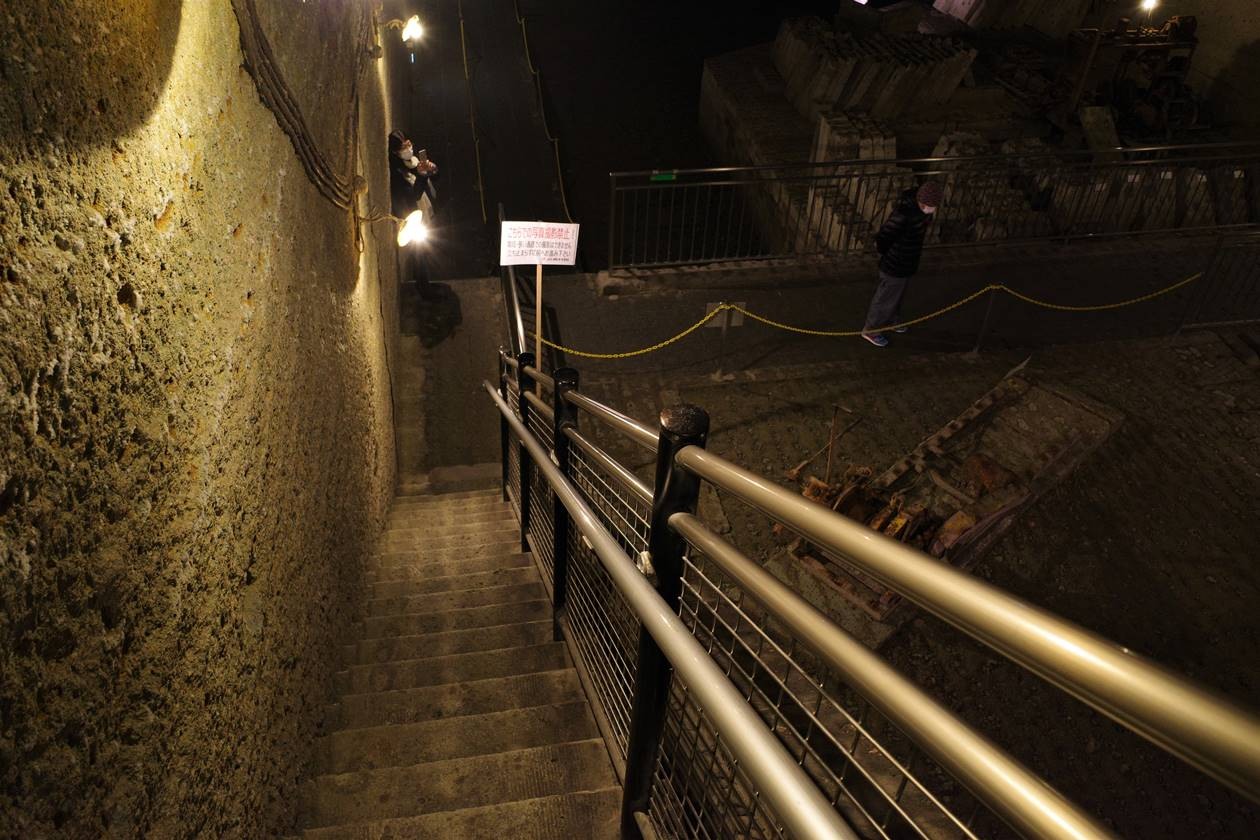 大谷資料館 階段通路