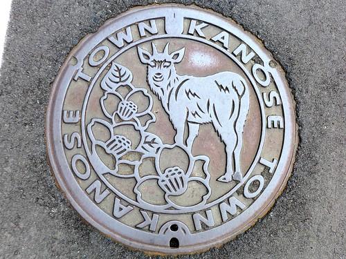 Kanose Nigata, manhole cover (新潟県鹿瀬町のマンホール)