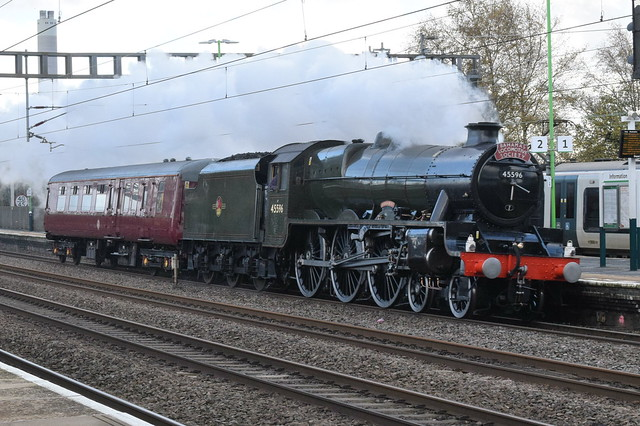 LMS 45596 'Bahamas' @ Rugeley Trent Valley railway station