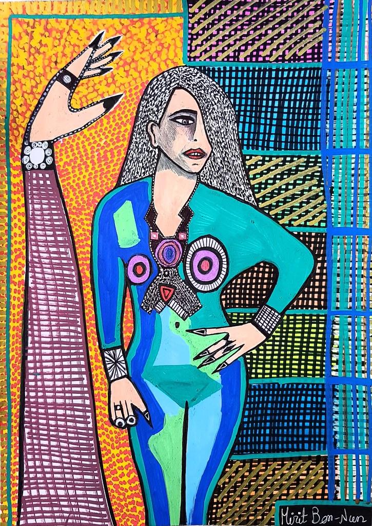 ציור ראליסטי ישראלי מירית בן נון אמנית מודרני יוצרת עכשווי