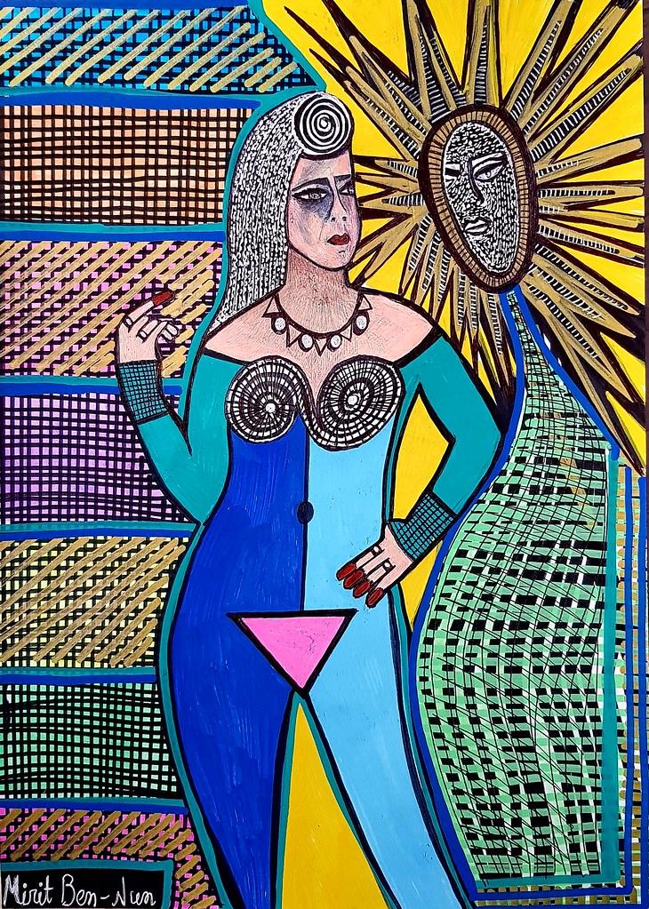 ציורים ראליסטים ישראלים מירית בן נון אמנית עכשווי יוצרת מודרני