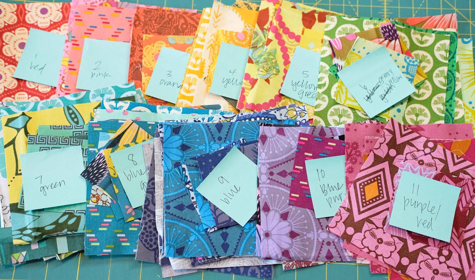 The Violet QAL - Rainbow Fabric Pull
