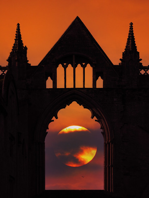 Newstead Abbey mixed with St Jean de Luz sunset