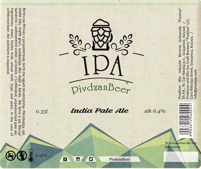 Kosovo - Pivdzan Brewery (Gracanica)