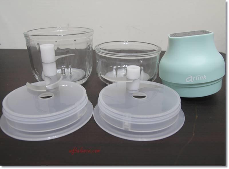 Arlink電動食物調理機(鬆搗菜菜籽)主機與配件