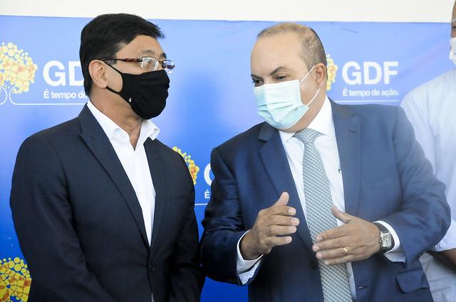 Inauguração do Hospital de Campanha de Ceilândia
