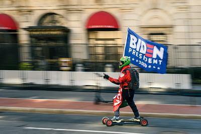 Biden Rollerboarder on Inauguration Day