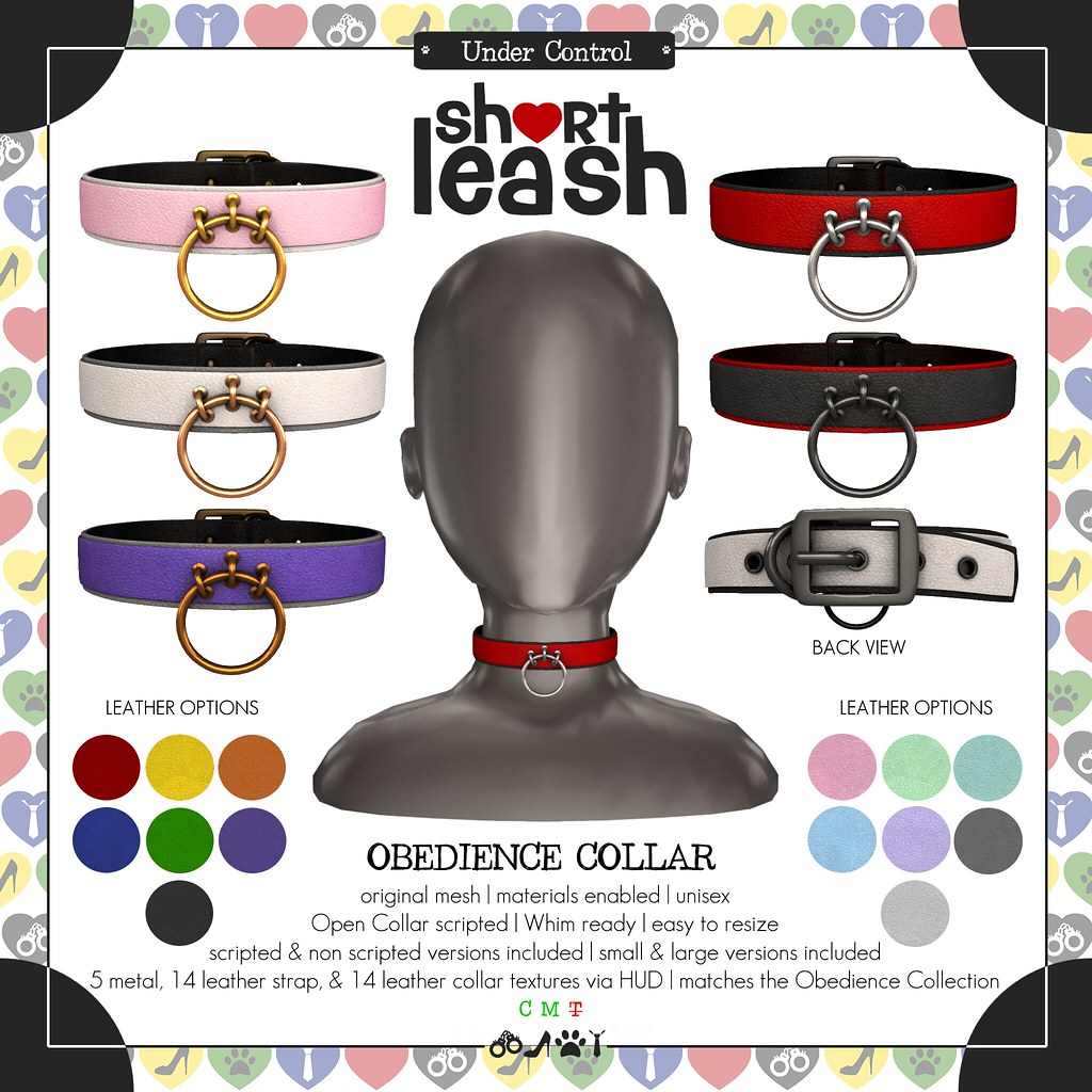 .:Short Leash:. Obedience Collar