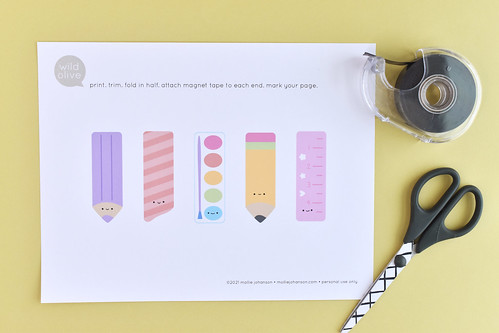 Printable Stationery Bookmarks | by wildolive