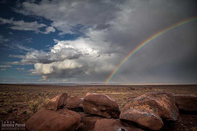 6 November 2019 — Southeast of Winslow, Arizona — Receding Storm