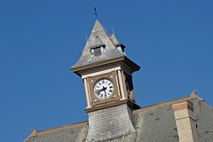 Clock tower at Rouss City Hall