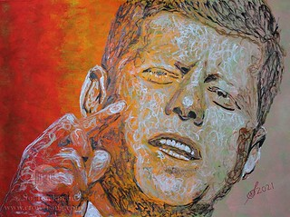John F Kennedy (original painting) | by CrowRising