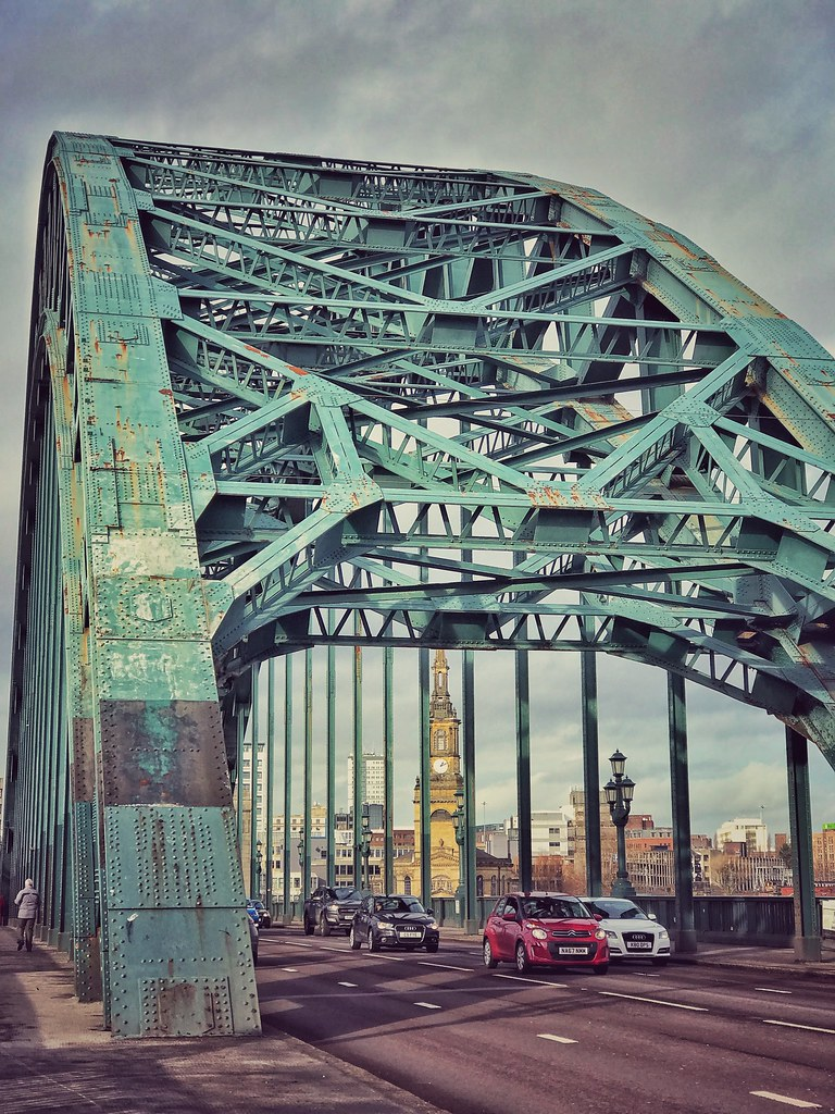 Tyne Bridge and All Saints Church