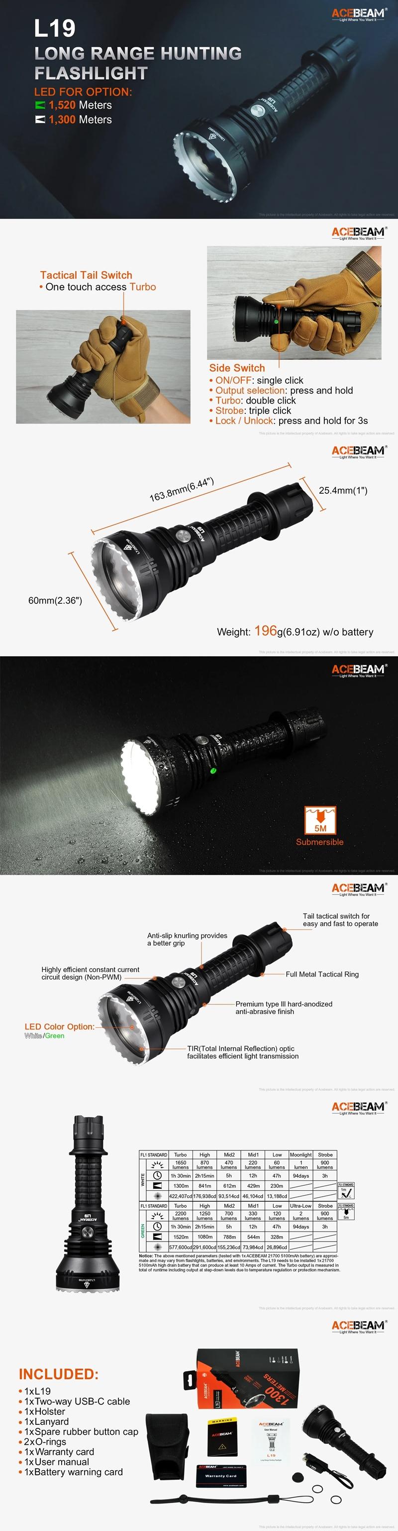 1.ACEBEAM L19 遠射程 戰術手電筒 BEST LONG RANGE FLASHLIGHT 錸特光電 台灣總代理-6