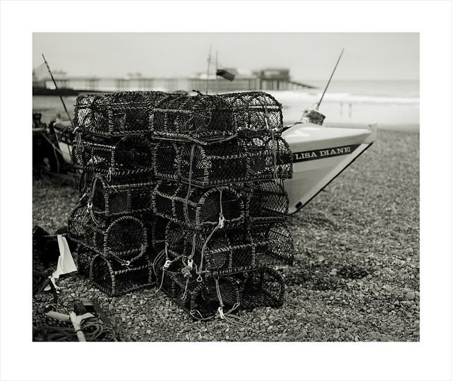 Crab Pots. Cromer. Norfolk.