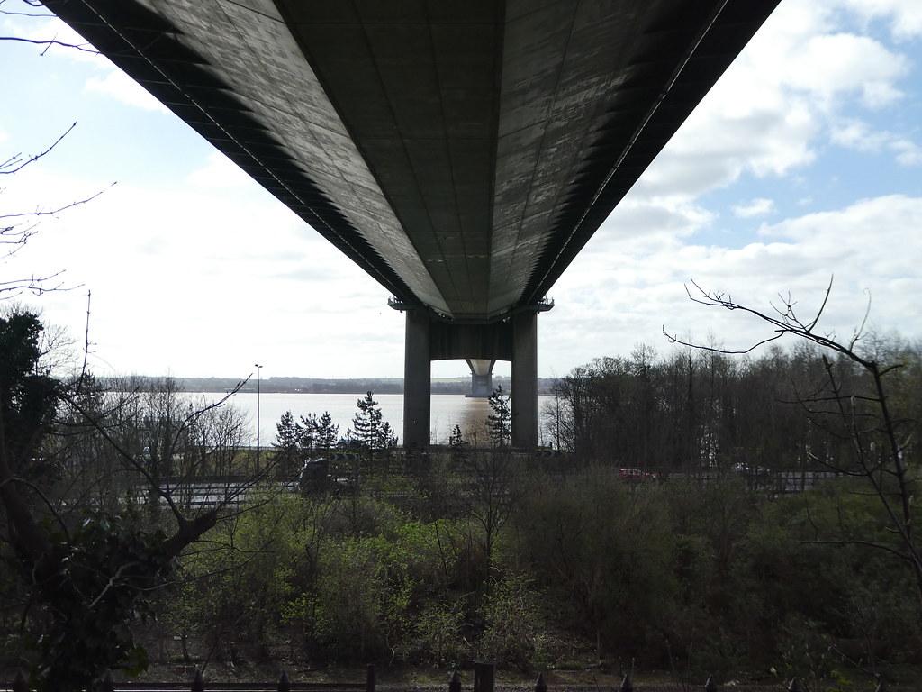 Beneath Humber Bridge