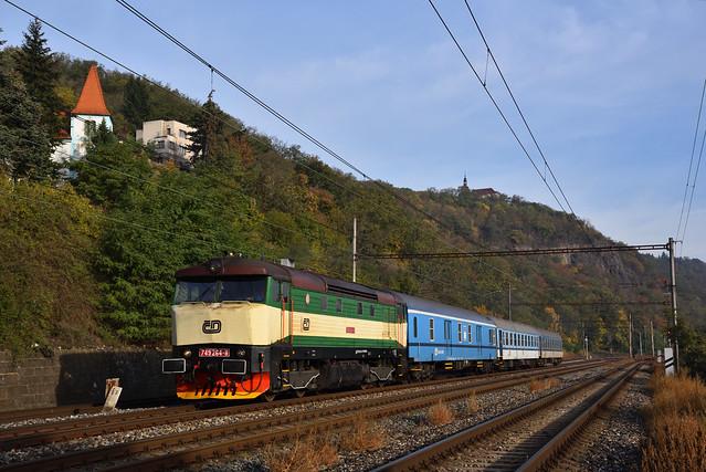 ČD 749 264 met Sp, Praha-Velká Chuchle, 06-10-2018