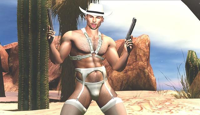 Like a white stockings Cowboy.