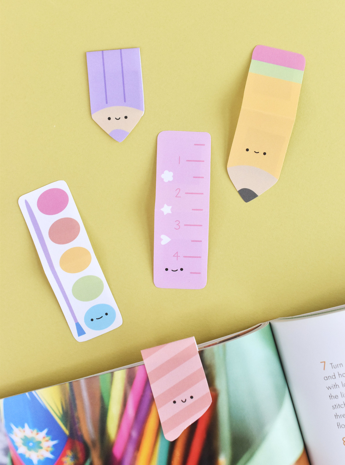Printable Stationery Bookmarks