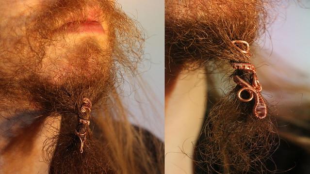 Beard copper jewelry