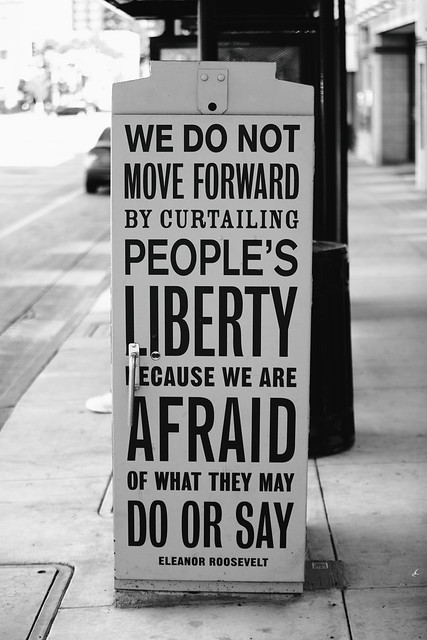 We do Not Move Forward by Curtailing People's Liberty