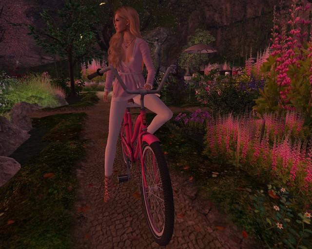 Biking in my garden