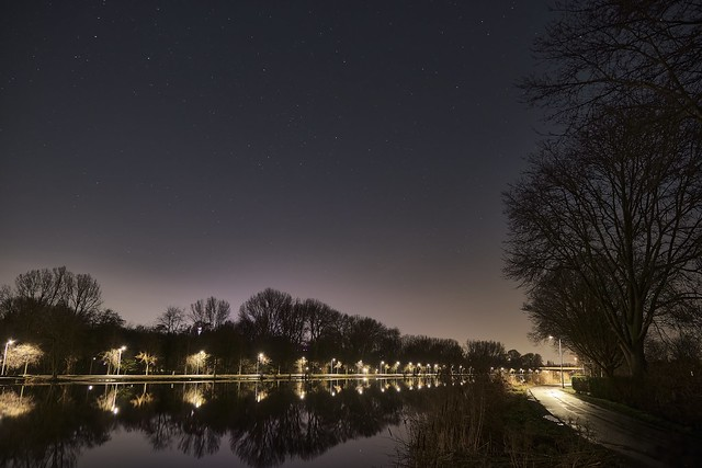 Amstel River, lights and stars
