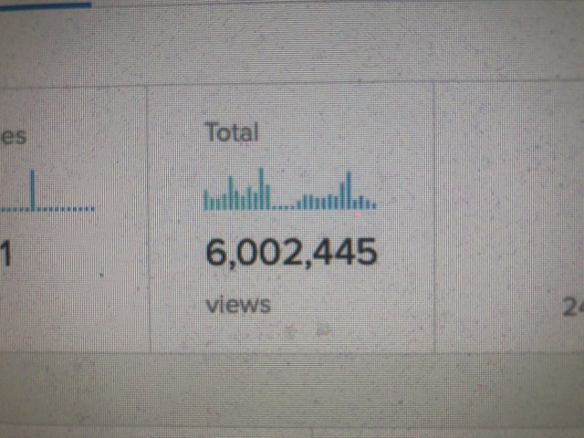 Dam! I just missed seeing my photostream hit 6 million views .... now if only it was a dollar a view!