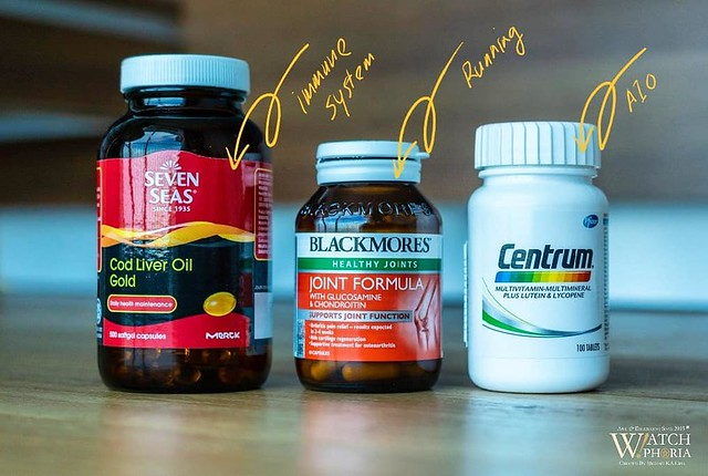S P I C E ° O F ° L I F E  #SevenSeas #CodLiverOil for Immune System #Blackmores #Glucosamine for Joints #Centrum #MultiVitamin for All-in-One