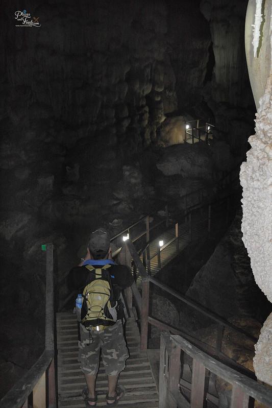 Thailand phu pha phet cave walkway stairs