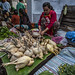 Selling Chickens In Luang Prabang Market, Laos