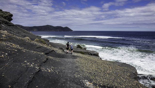 Waves rolling in, South Cape Bay walk, Southwest National Park, Tasmania-19