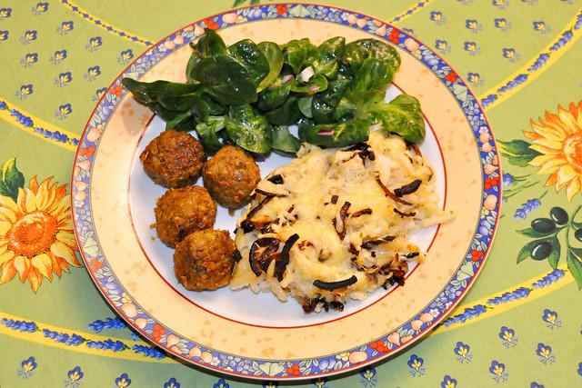 Januar 2021 ... Orientalische Falafel, Pasta mit Käse überbacken, knackiger Feldsalat ... Brigitte Stolle