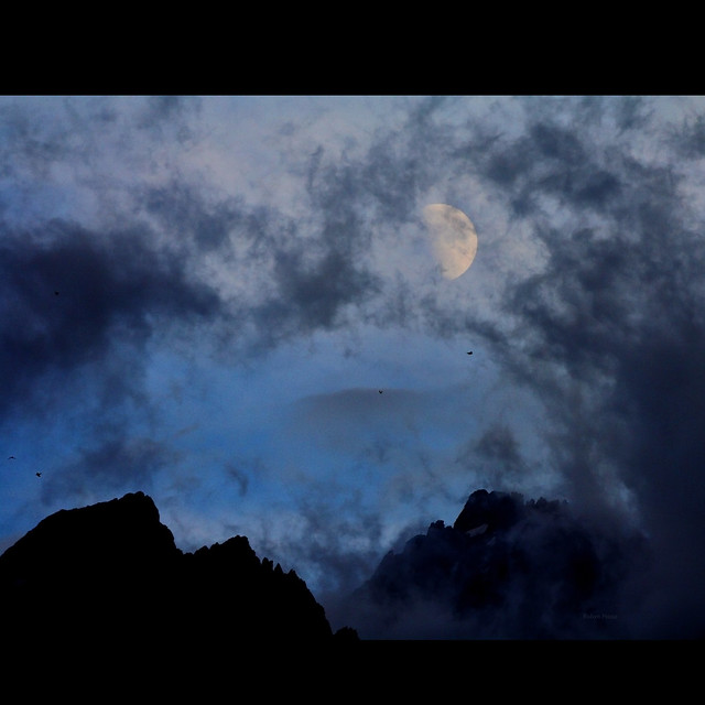 Clearing storm with the moon