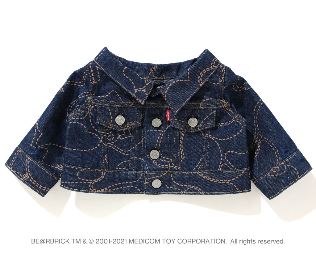 Levi's × BAPE 聯名 BE@RBRICK!100%&400%套裝組、1000%同步登場