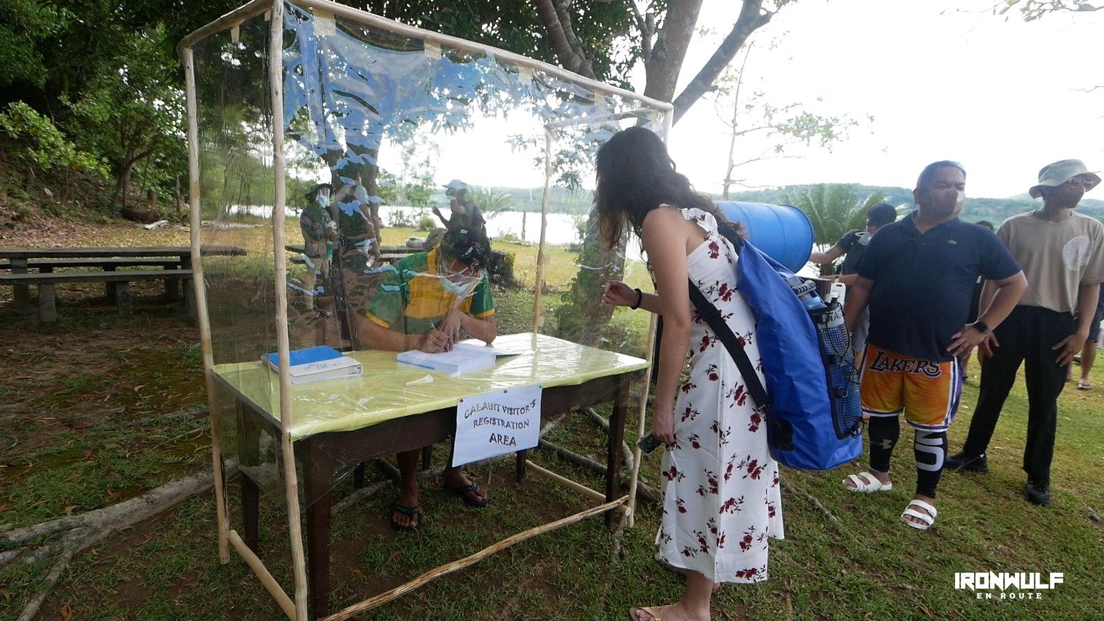 Tourist registration at Calauit Island