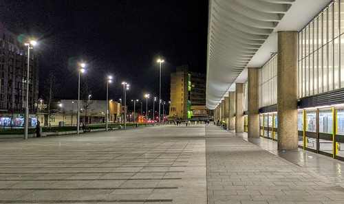 Preston bus Station at night | by Tony Worrall