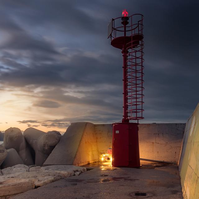red lighthouse // Pesaro [pu]