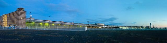 THF Flughafen Tempelhof 22.1.202 Panorama Sonnenaufgang