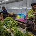 Selling Vegetables In Luang Prabang Market