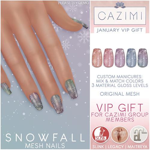 January VIP Gift: Snowfall Mesh Nails