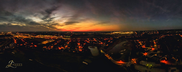 Panoramic View of Yesterday's Sunset